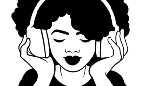 illustration woman with headphones bose headphones for gaming